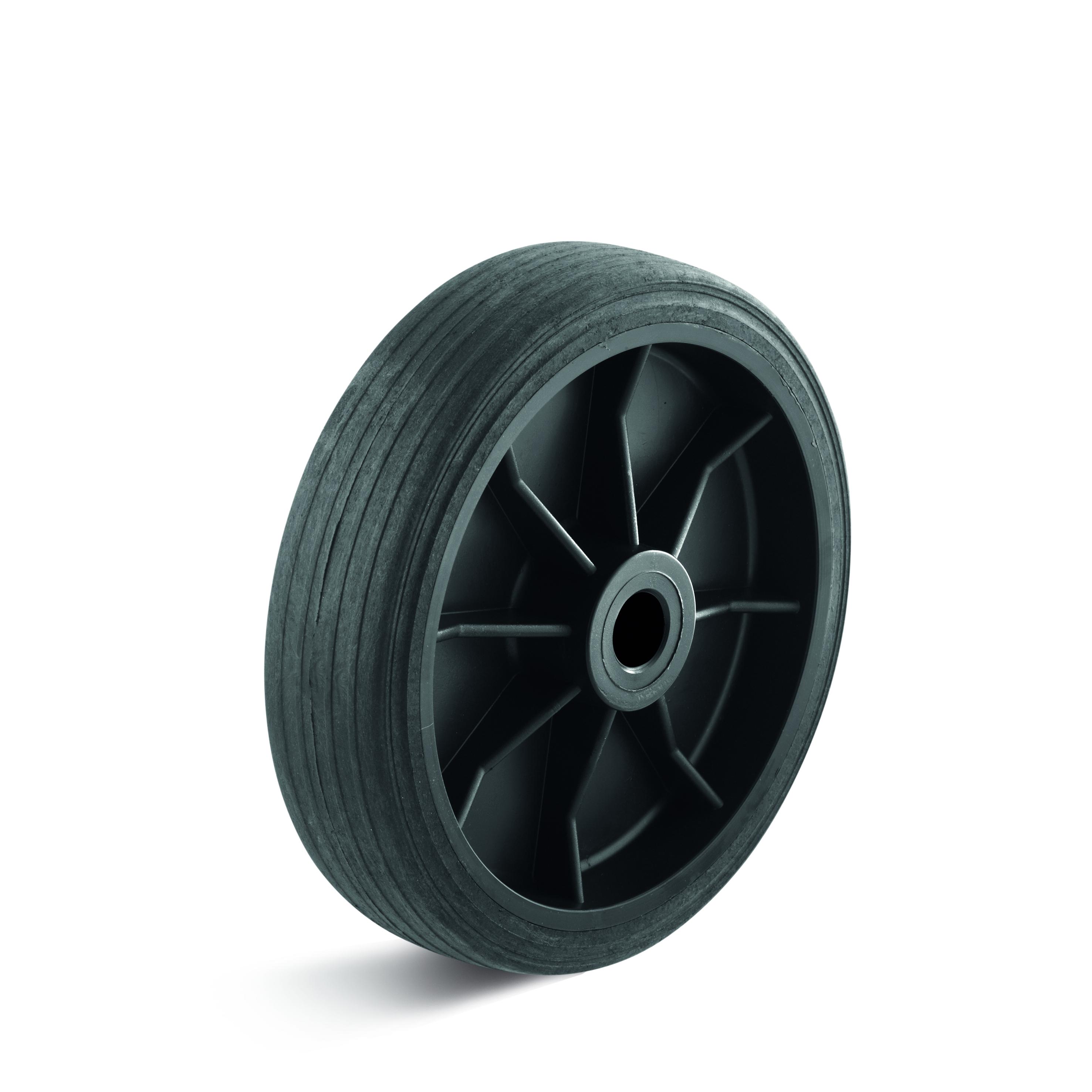 Billed af Let kunststofhjul, sort kunststofhjul, (1050-serie)