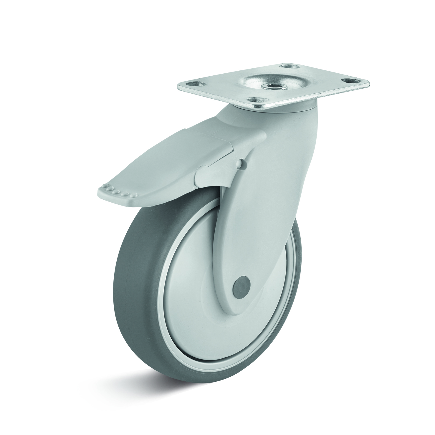 Billed af Apparathjul, kraftig grå thermoplasthjul, kunststof, (1190-serie)