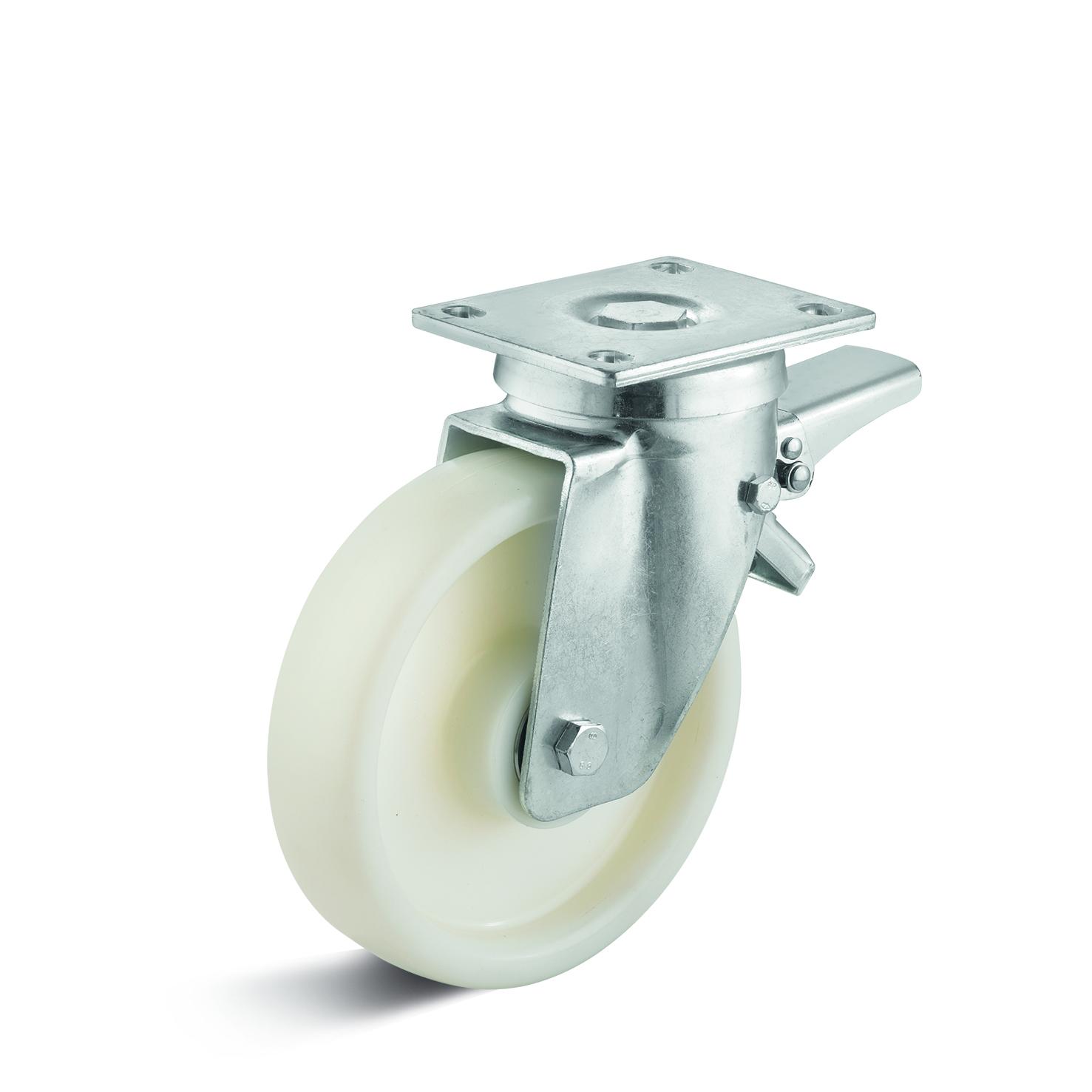 Billed af Sværlasthjul, hvid polyamidhjul, (6050-serie)