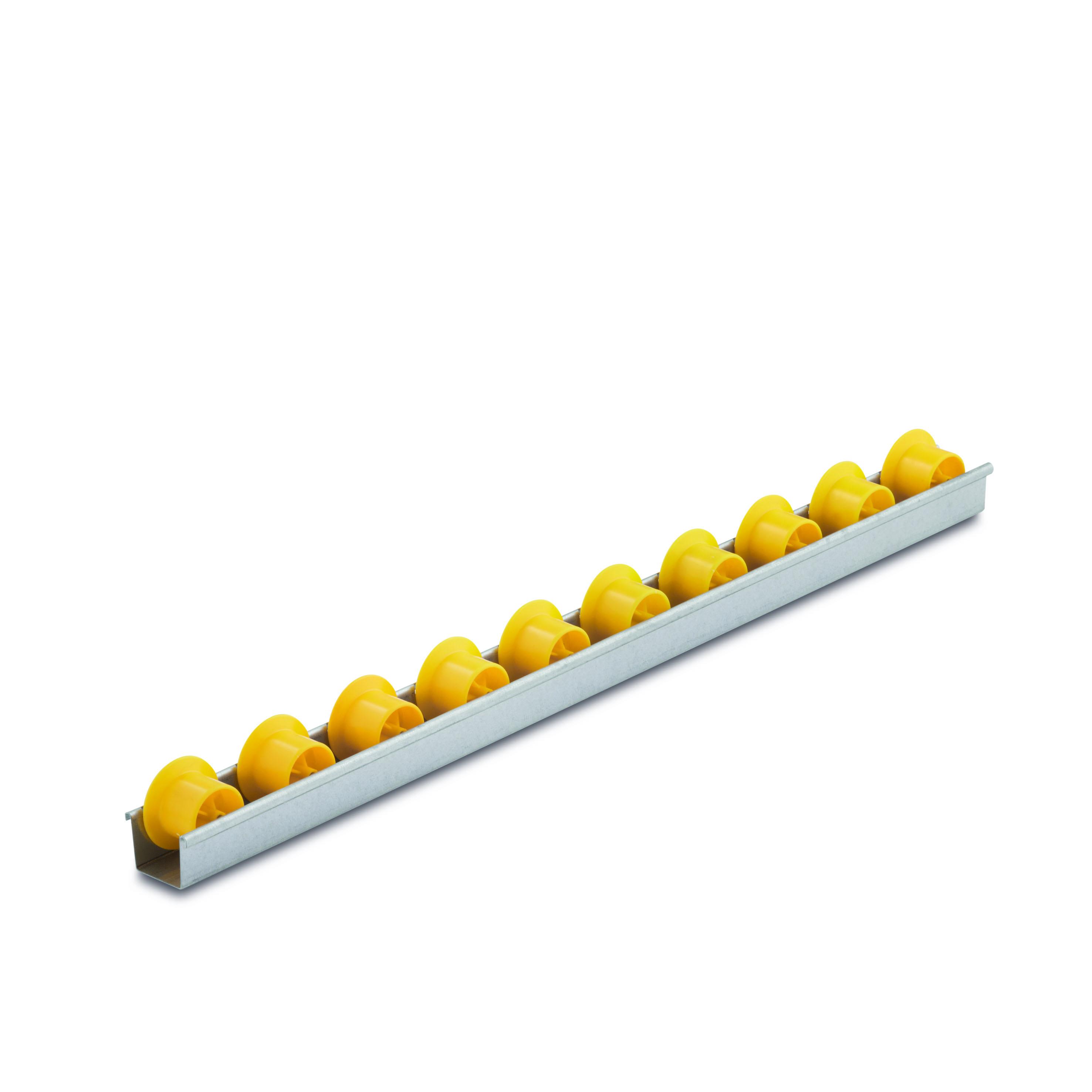 Billed af Mini rulleskinner, sporkans, op til 6 kg pr. rulle, profil 0,8 mm (801-serie)