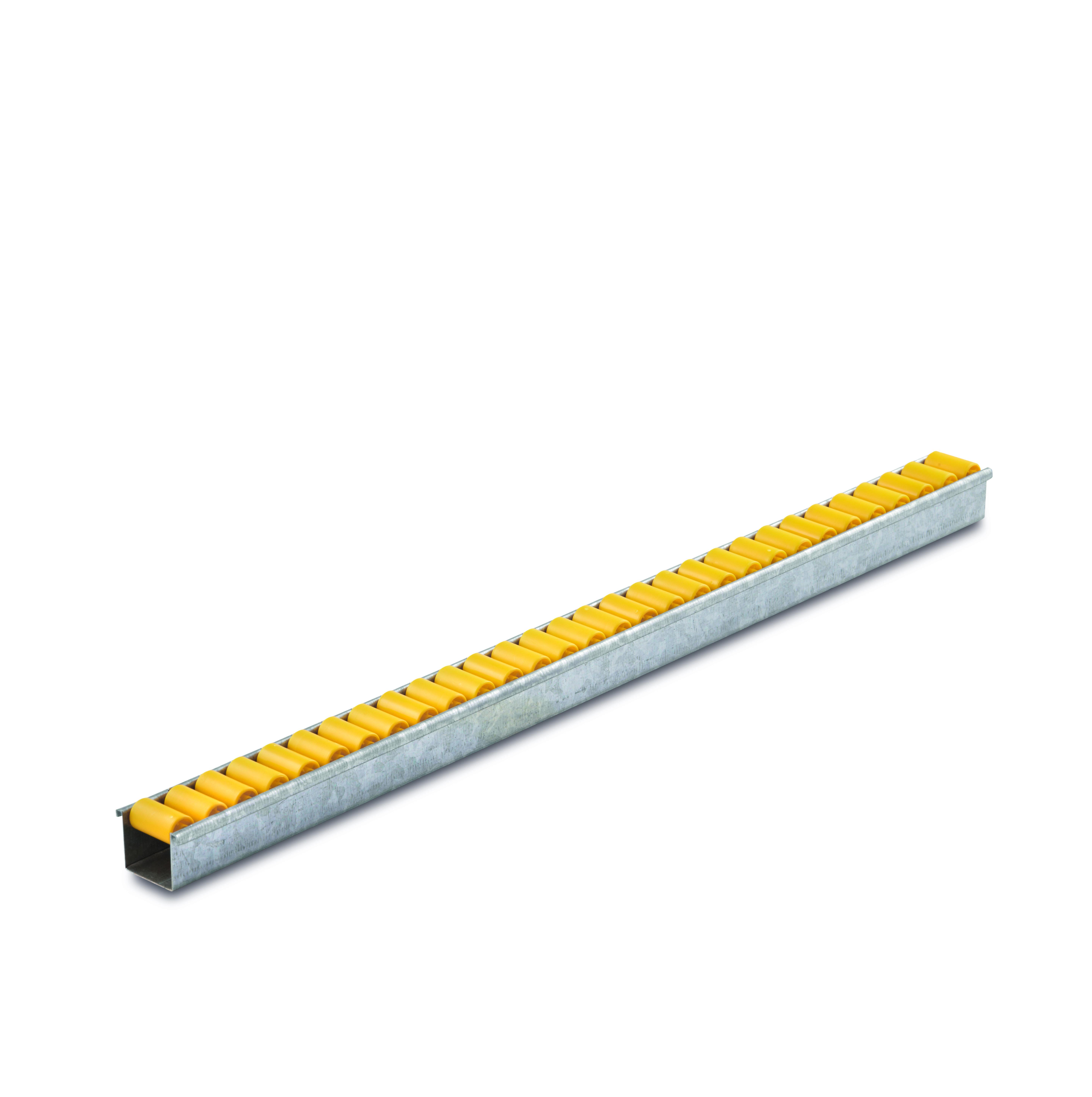 Billed af Mini rulleskinner, sporkans, op til 6 kg pr. rulle, profil 0,8 mm (802-serie)
