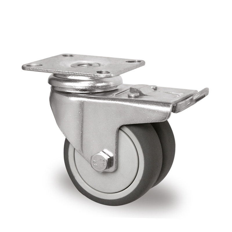 Billed af Apparathjul, dobbelt grå thermoplasthjul, (1200-serie)