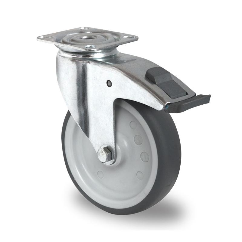 Billed af Apparathjul, kraftig grå thermoplasthjul, (1100-serie)
