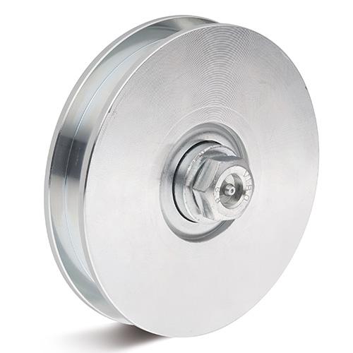 Billed af Galvaniseret stålrulle med kugleleje og aksel (0026869)