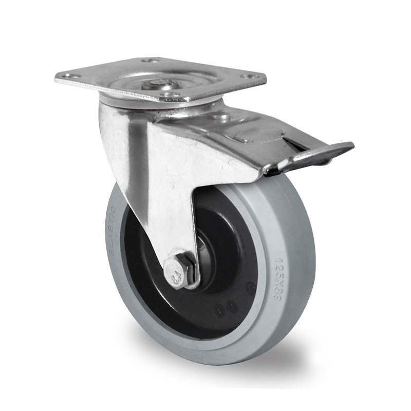 Billed af Industrihjul, grå gummihjul, (3500-serie)