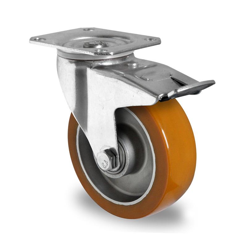 Billed af Industrihjul, brun polyurethanhjul, (4100-serie)