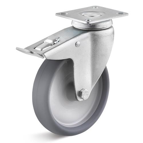 Billed af Kraftig apparathjul med glideleje 125 mm (0030037)