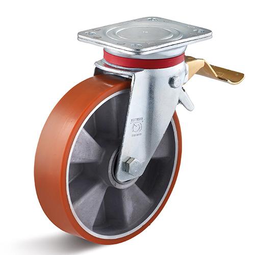 Billed af Sværlasthjul polyuretan i middelsvær gaffel (0036615)