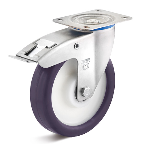 Billed af Industrihjul, lilla polyurethanhjul, (4050-serie)