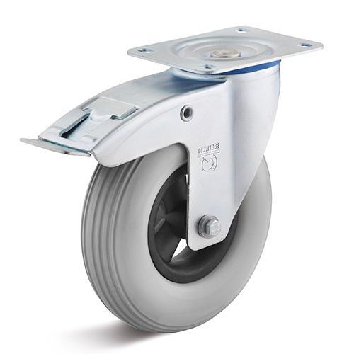 Billed af Opskummet polyuretan industrihjul 200 mm (0018589)