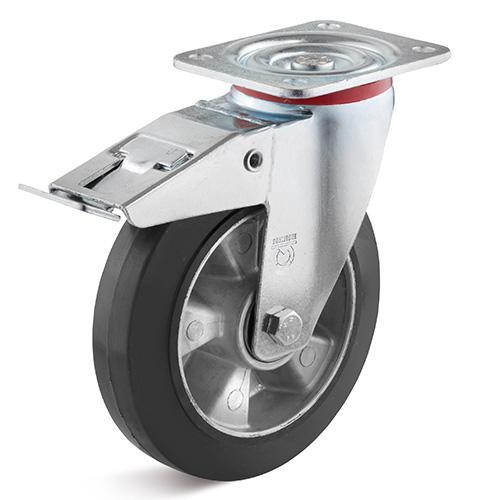 Billed af Elastisk industrigummihjul med mellemsvær gaffel (0020257)