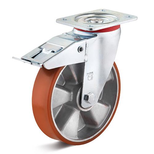 Billed af Polyuretan industrihjul med mellemsvær gaffel (0020241)