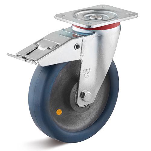 Billed af Antistatisk industrigummihjul med mellemsvær gaffel (0033408)