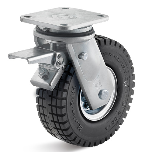 Billed af Elastisk gummihjul med stålfælg i ekstra kraftig gaffel (0040754)