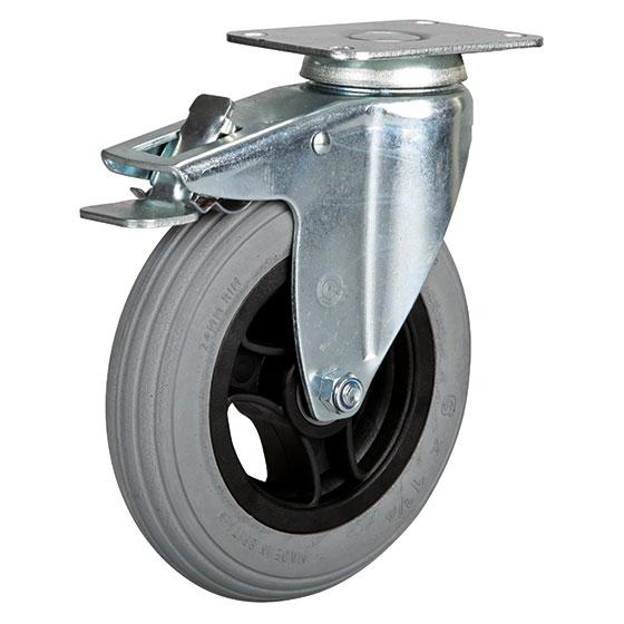 Billed af Blød polyuretanhjul, stålfælge, (32-serie)