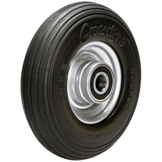 Billed af Blød polyuretanhjul, stålfælge, (26-serie)