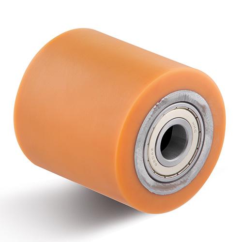 Billed af Styrerulle i polyuretan med stålkerne og dobbelte kuglelejer (0012391)