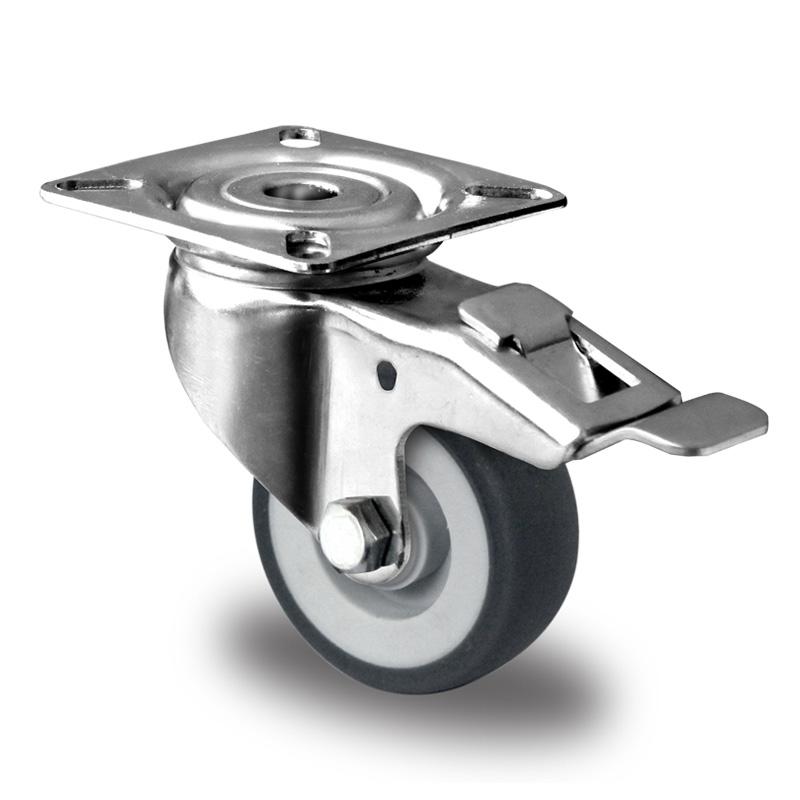 Billed af Rustfrie apparathjul, grå thermoplasthjul, rustfri gaffel, (9000-serie)