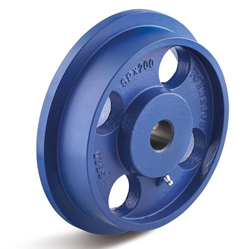 Billed af Sporkranshjul, støbegods, trædeflade 3 graders stigning, (500-G-serie)