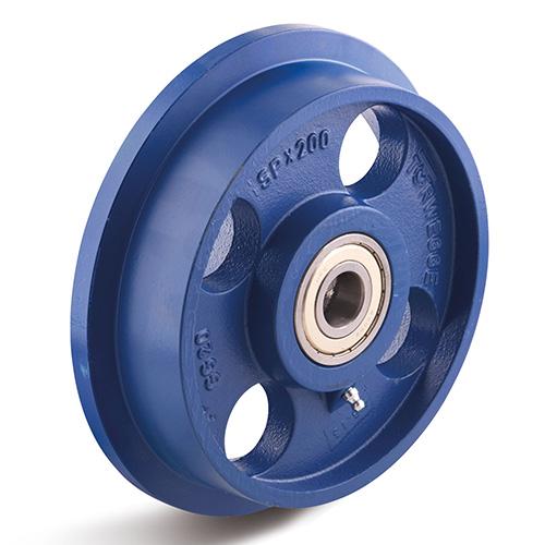 Billed af Sporkranshjul, støbegods, trædeflade 3 graders stigning, (500-K-serie)