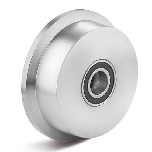 Billed af Sporkranshjul, stål C45 med kuglelejer, (500-KC45-serie)