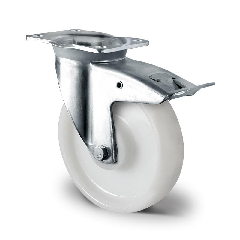 Billed af Sværlasthjul, hvid polyamidhjul, (6000-serie)
