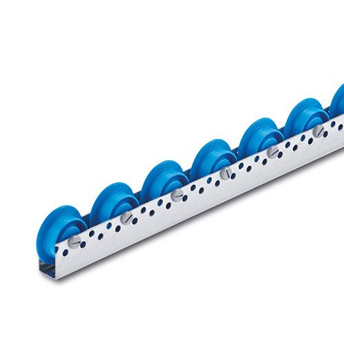 Billed af Rulleskinne med blå sporkrans-kunststofruller, (810-serie)